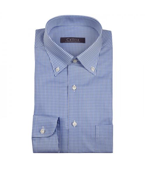 Camicia Cassera Uomo in cotone vichy , classic fit con taschino